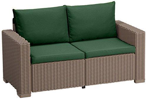 au en wasserfest 4 teiliges sitzkissen set f r keter allibert kalifornien rattan 2 sitzer sofa. Black Bedroom Furniture Sets. Home Design Ideas