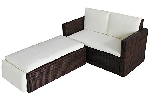 POLY RATTAN Lounge Gartenset Sofa Garnitur Polyrattan Gartenmöbel ...